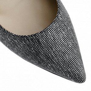 Серебряные летние туфли. Модель 2378 серебро сараби