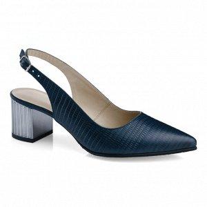 Синие летние туфли. Модель 2378 синий питон