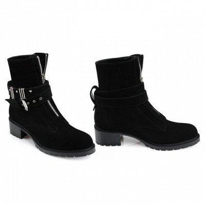 Sateg-8. Обувь из натуральной кожи 33-43 размера — Зима. Женские ботинки, ботильоны