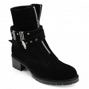 Ботинки замшевые зимние. Модель 3207 н замша