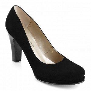 Замшевые туфли на невысокй платформе. Модель 2215 замша