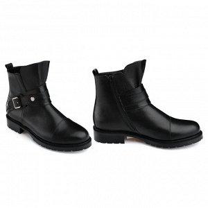 Женские ботинки. Модель 3226 б наппа черная (демисезон)