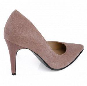 Замшевые туфли на шпильке. Модель 2315 беж роз замша