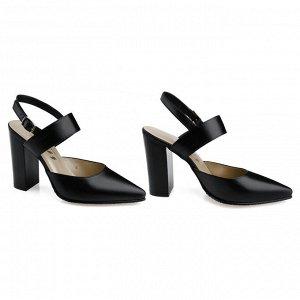 Летние туфли на устойчивом каблуке. Модель 2363
