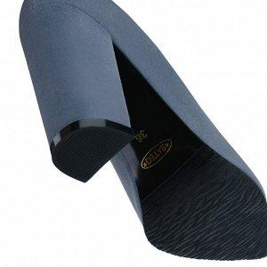 Замшевые туфли на устойчивом каблуке. Модель 2315 эк замша блу грей