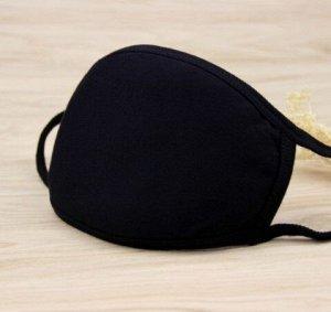 Маска для лица, цвет черный, однотонная