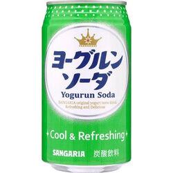 """SANGARIA Напиток б/а газированный """"YOGURUN SODA"""" со вкусом йогурта .350 мл., ж/бан"""