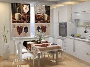 Фотошторы для кухни Кофейное настроение БлэкАут
