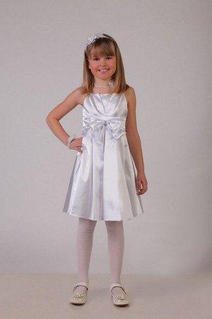 Белое платье для девочки, модель 0112