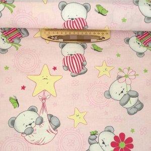 Панды на розовом