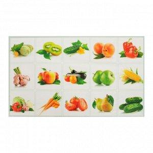 Наклейка декоративная на кафельную плитку Натюрморт фруктовый 75*45 см