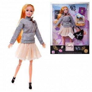 Кукла ABtoys Emily Модница с сумочкой и аксессуарами 30см2