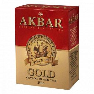 """Чай Akbar """"Gold"""", черный листовой, 100г"""