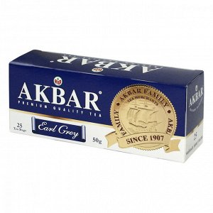 "Чай Akbar ""Earl Grey"", черный с бергамотом, 25 пак"
