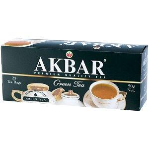 """Чай Akbar """"Green Tea"""", 25 пак"""