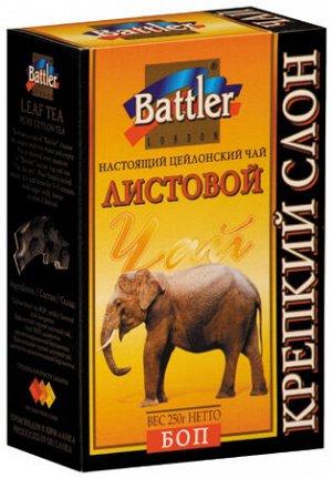 """Чай Battler """"Крепкий Слон"""", черный листовой BOP, 250г"""