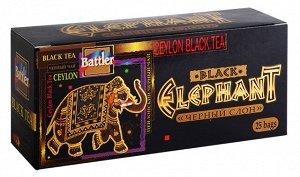 """Чай Battler """"Черный Слон"""", черный, 25 пак"""