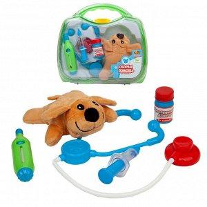 Игровой набор ABtoys Маленький доктор. Скорая помощь для животных с чемоданчиком и плюшевой собачкой2