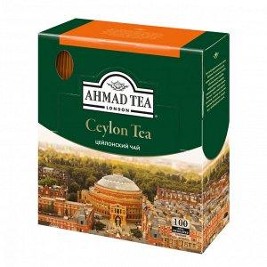 """Чай Ahmad """"Ceylon Tea"""", цейлонский черный, 100 пак"""