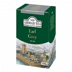 """Чай Ahmad """"Earl Grey"""", черный листовой с бергамотом, 100г"""