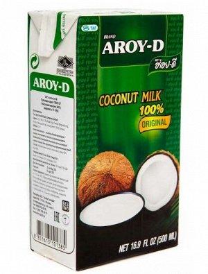 Молоко кокосовое (жирн.17-19%)  'Aroy-d', тетрапак 0,5 1/24