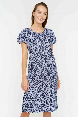 Платье Ткань: кулирка набивная; Состав: Хлопок 100%; Цвет: Сине-белый; Страна: РоссияПлатье с первого взгляда вызывает восхищение яркой цветовой палитрой - причудливые большие тюльпаны на розовом фоне
