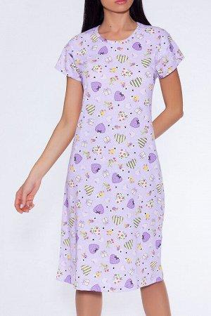 Платье Состав: Хлопок 100%.  Цвет: Сиреневый.