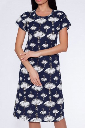 Платье Состав: Хлопок 100%;  Цвет: Темно-синий/балерины;  Страна: Россия