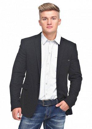Пиджак Состав: 62% полиэстер, 33% вискоза, 5% эластан;  Цвет: т. серый;   Мужской однобортный пиджак имеет карманы с клапаном и нагрудный карман с листойкой. Конструкция с бочком обеспечивает идельну