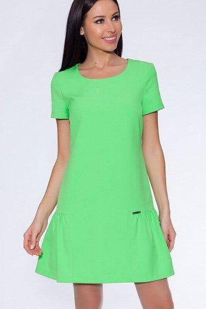Платье Состав: Вискоза 65%, Поливискоза 35%.  Цвет: Салатовый неон.