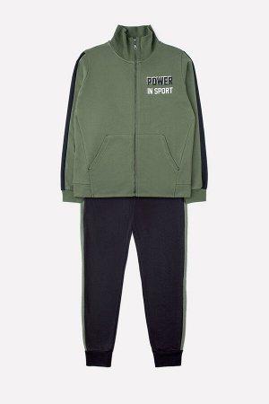 Комплект для мальчика КБ 2676 бронзово-зеленый + черный