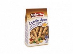 Палочки хлебные Гриссини Кроккини миньон с кунжутом 150 гр Roberto