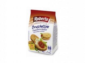 Хлебцы Брускеттине со вкусом томатов и базилика 100 гр Roberto