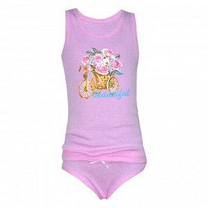 Комплект майка-трусики для девочек арт. МД 129-23