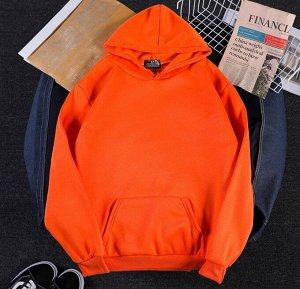 Толстовка на флисе, оранжевый