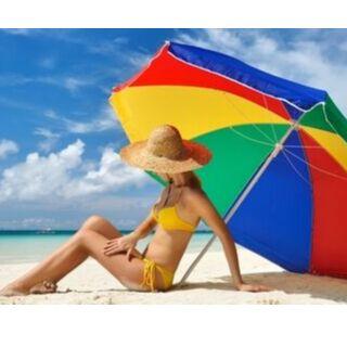 Акция на корзины! Всё для компактного хранения и порядка! — Акция! Зонт пляжный - 450 руб — Туризм и активный отдых
