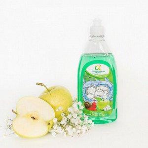 Средство для мытья посуды Альфа яблоко 500 мл / 16 шт. /(прозрачная бут.)