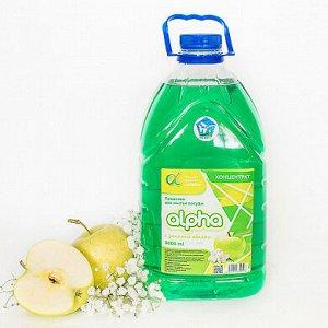 Средство для мытья посуды Альфа яблоко 5л (концентрат)