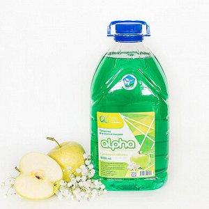 Средство для мытья посуды Альфа яблоко 5 л