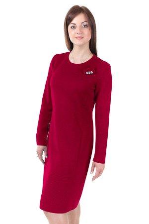 Платье вязаное 3847 К  Вишневый
