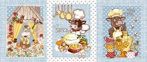 Набор вафельных полотенец Летние бычки (3шт)