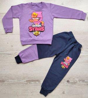 Костюм для девочки (кофта+брюки) УЗБЕКИСТАН (2-3-4-5)
