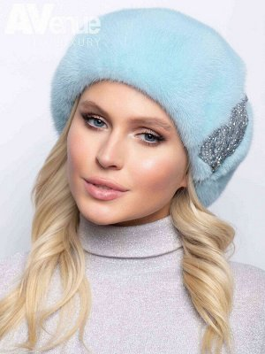 Шапка Базовый зимний женский норковый берет. Такая зимняя шапка идеально подойдёт женщинам с любым типом лица. Благодаря классической форме такой зимний головной убор будет идеально сочетаться с верхн