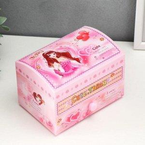 Шкатулка музыкальная с ящиком девичьи секретики 15*11*10 см