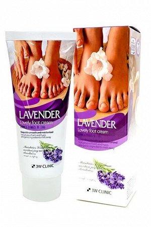 Крем для ног с экстрактом лаванды 3W Clinic Lovely Foot Cream