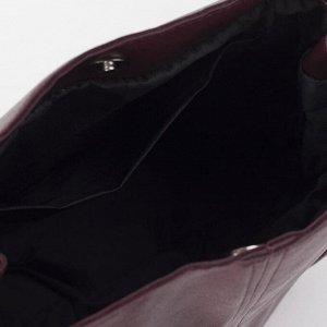 Сумка женская, отдел на кнопке, 4 наружных кармана, цвет бордовый