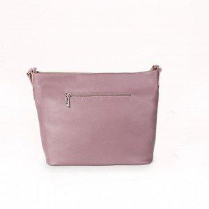 Сумка женская, отдел на молнии, наружный карман, регулируемый ремень, цвет сиреневый/серый