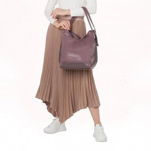 Сумка женская, отдел на молнии, наружный карман, цвет сиреневый