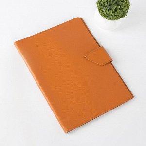 Папка для документов на клапане, 3 комплекта, цвет оранжевый