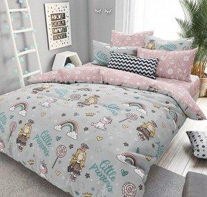 КПБ ПОПЛИН Принцессы 1,5 спальный с простыней на резинке